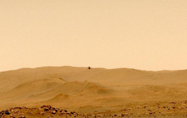 Вертоліт Ingenuity знову політав над Марсом: він допомагає марсоходу Perseverance