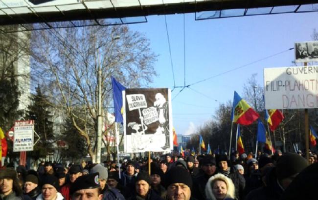 Фото: митинг в Молдове