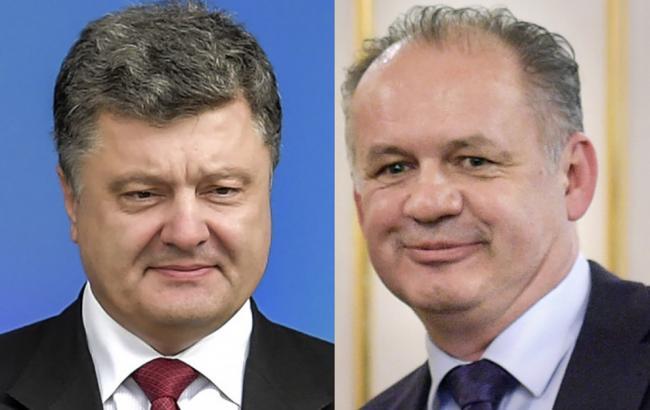 Фото: президенты Украины и Словакии провели телефонный разговор