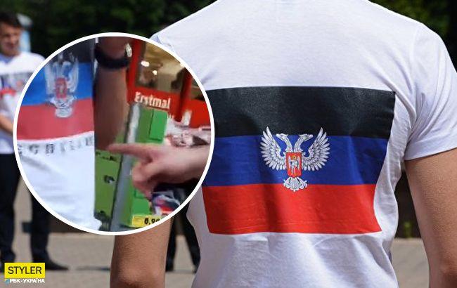 """Заставили снять тряпку: в Германии туристы побили сторонника """"ДНР"""" (видео)"""