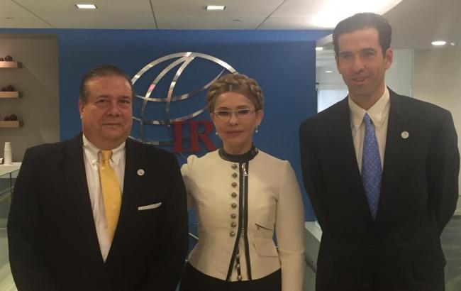 Тимошенко встретилась с президентом Международного республиканского института
