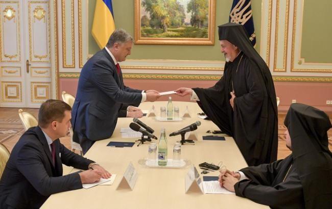Порошенко і патріарх Варфоломій обговорили дії по створенню автокефальної української церкви