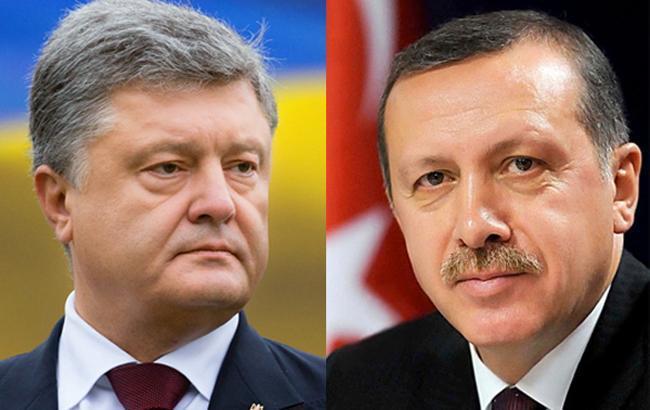 Порошенко провів телефонну розмову з Ердоганом