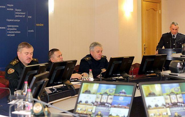 Фото: совещание руководителей ведомств МВД Украины