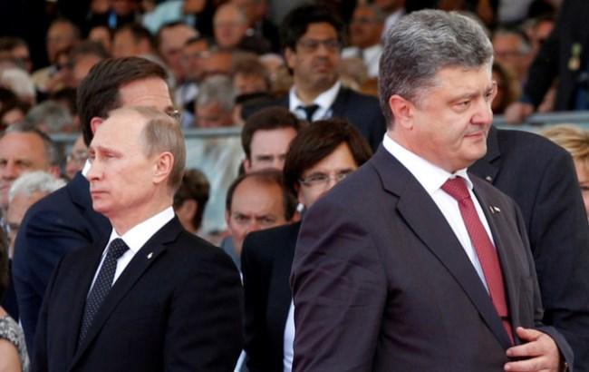 Фото: Порошенко и Путин (112.ua)