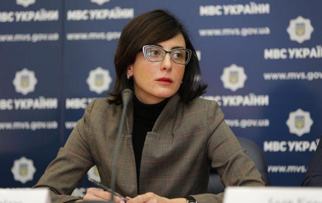 Фото: глава Нацполиции Хатія Деканоїдзе
