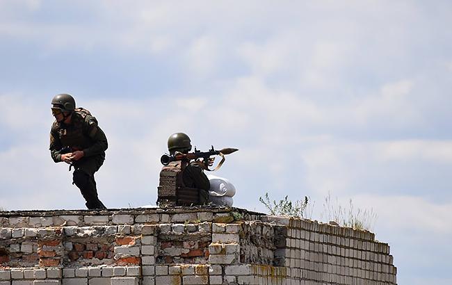 Фото: в зоне АТО боевики применили гранатометы (mil.gov.ua)