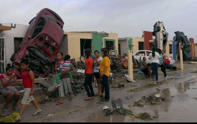 Фото: последствия торнадо в Мексике