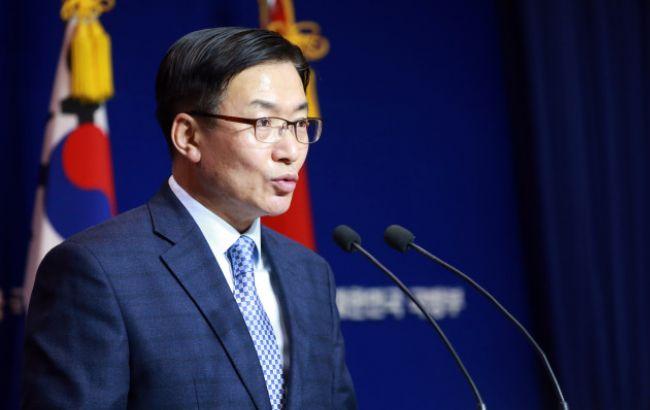 Фото: представитель Минобороны Южной Кореи Мун Санг Гюн