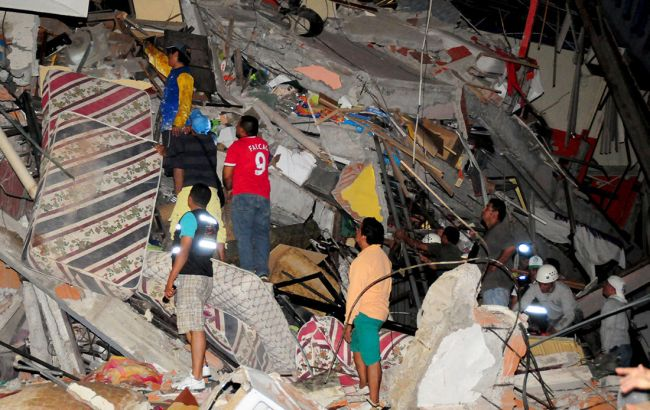 Землетрус в Еквадорі: кількість загиблих зросла до 646 осіб