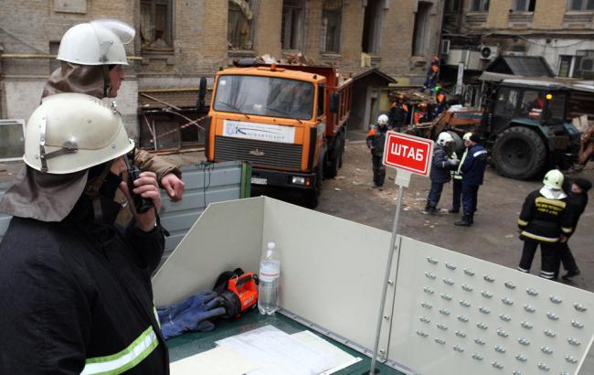 Обвал будинку в Києві: ДСНС завершила рятувальну операцію