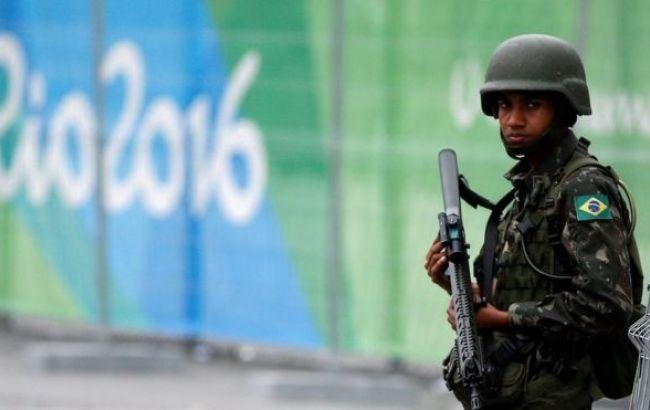 Фото: бразильские полицейские на Олимпиаде