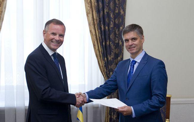 Фото: посол Норвегии в Украине Уле Терье Хорпестад (слева)