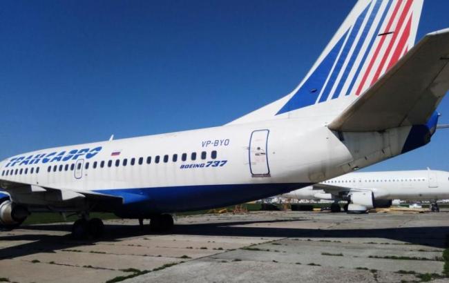 Украина пустила смолотка арестованный задолги самолет русской компании «Трансаэро»