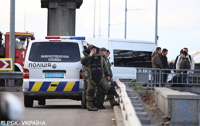 В Киеве перекрыли мост Метро из-за угрозы взрыва: подробности