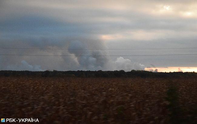 Фото: взрывы на военных складах Черниговской области (РБК-Украина)