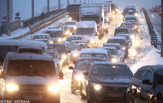 У Києві ввечері утворились численні пробки