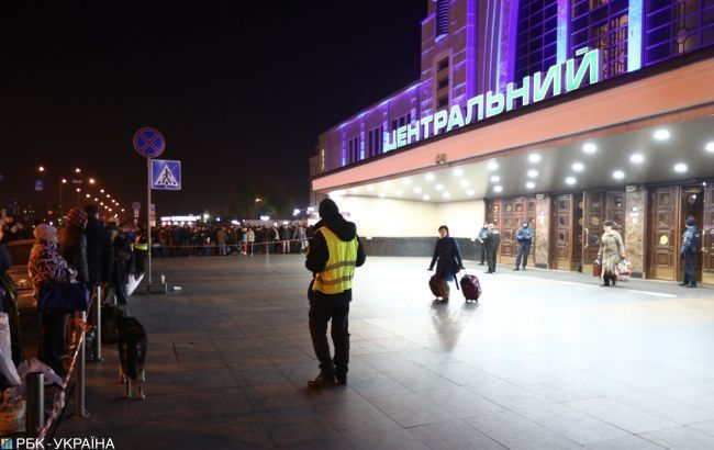 У Києві евакуювали залізничний вокзалу через повідомлення про мінування