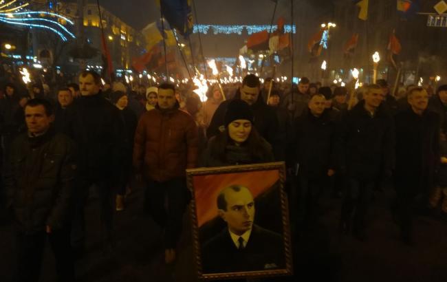 В Киеве начались марши националистов