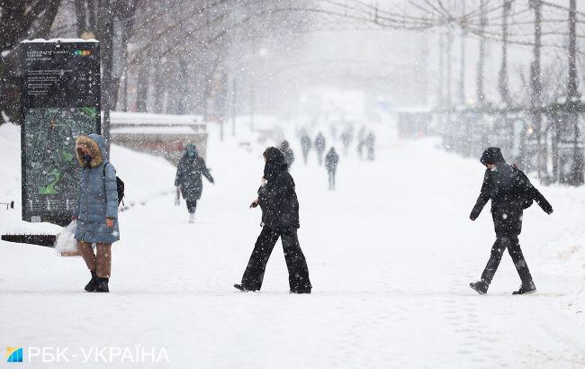 Заснеженный Киев глазами фотографа: что происходит в столице
