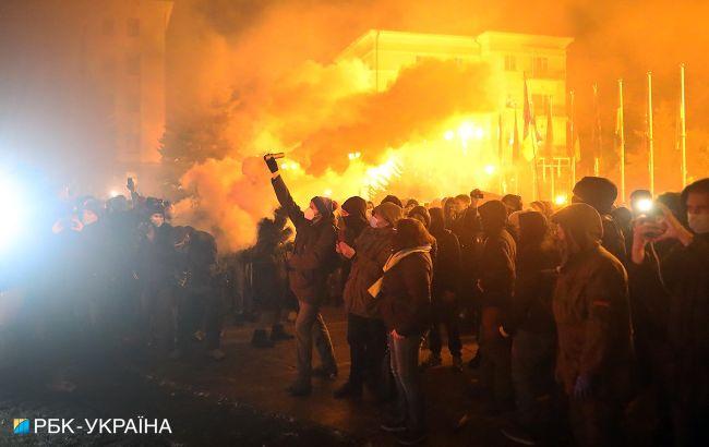 Беспорядки возле ОП: полиция открыла еще одно дело