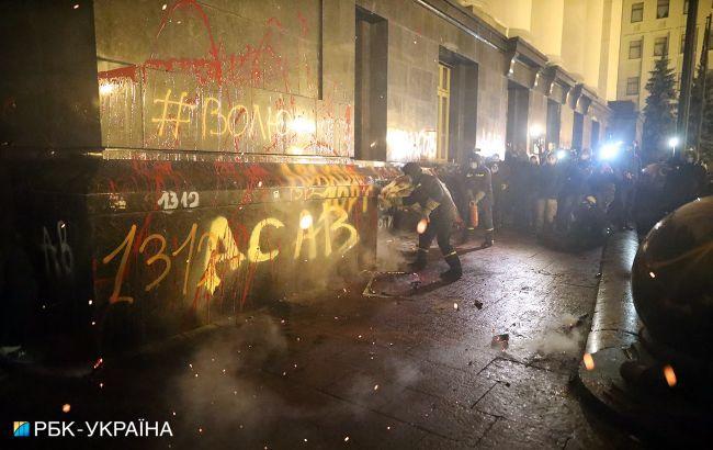 Беспорядки подОП: в Кабмине призвали украинцев воздержаться от подобных действий