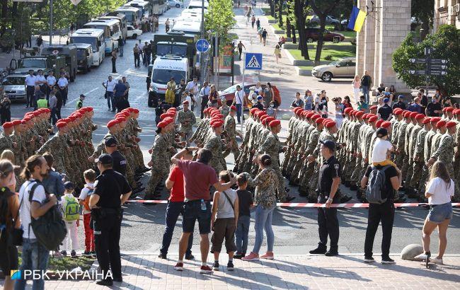 В Киеве прошла вторая репетиция парада ко Дню независимости: фото и видео