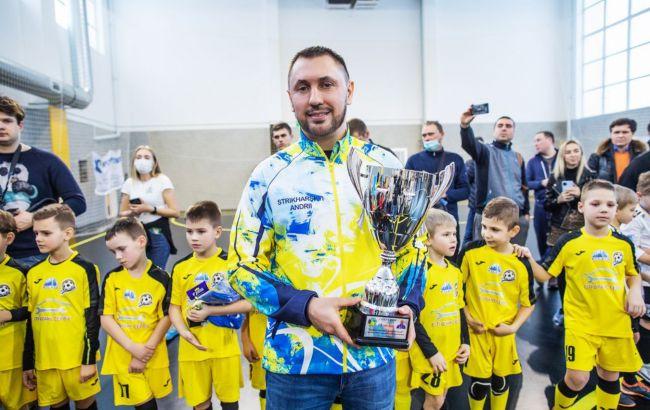 Андрей Стрихарский поддержал юных футболистов