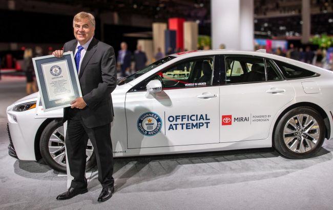 Водородная Toyota Mirai установила мировой рекорд по дальности хода