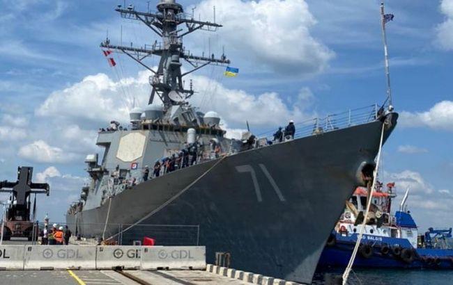 В Одессу зашел американский эсминец. Четыре года назад он атаковал базу в Сирии