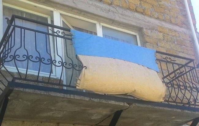 Фото: Флаг Украины в центре Севастополя (facebook.com/Галина Геннадіївна Однорог)