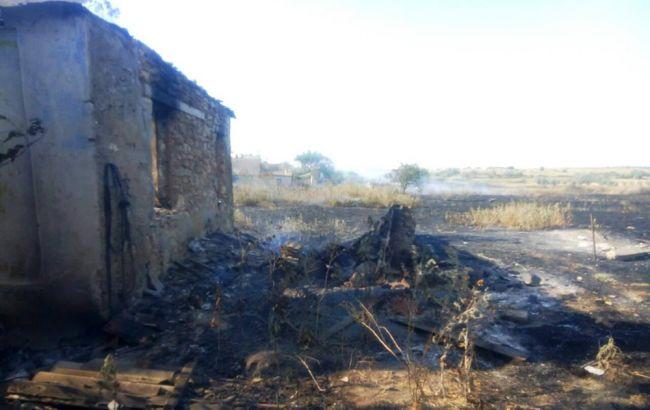 Фото: последствия пожара в Николаевской области (пресс-центр ГСЧС)