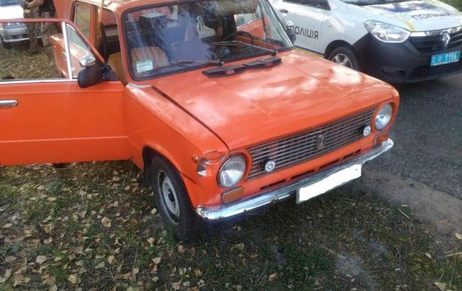 Фото: Автомобіль порушника (facebook.com/dtp.kiev.ua)