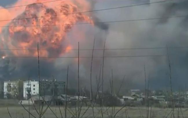 Фото: у мережі з'явилося відео вибухів у Балаклії