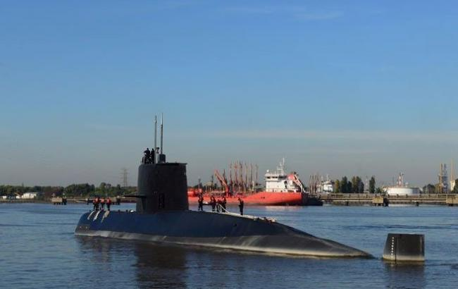 Фото: затонувшая в Аргентине субмарина (twitter.com/Armada)
