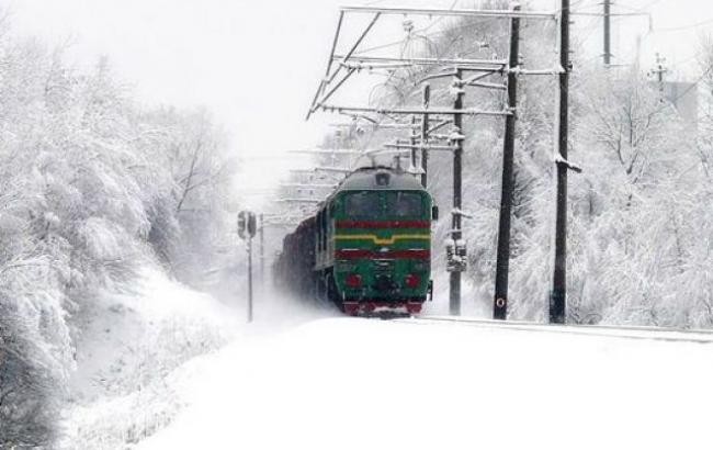 Фото: снегопад в Украине