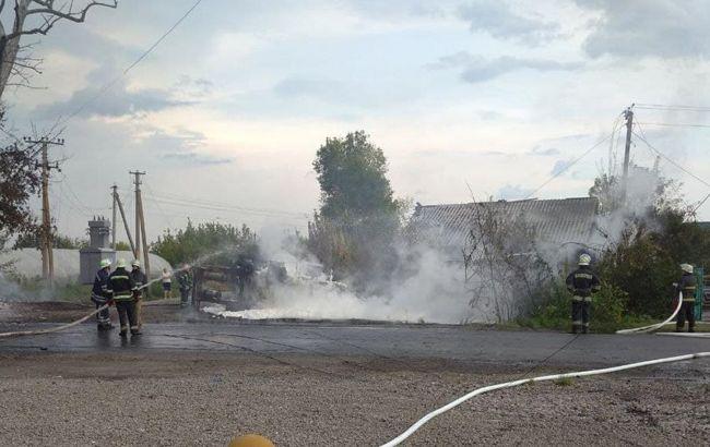 В Запорожской области перевернулся и загорелся бензовоз: есть пострадавший
