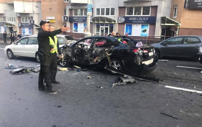 Фото: вибух в Києві (Victoria Navrotskaya facebook.com)