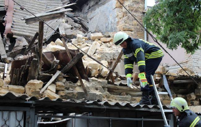В Одесі на парковку впав двоповерховий будинок