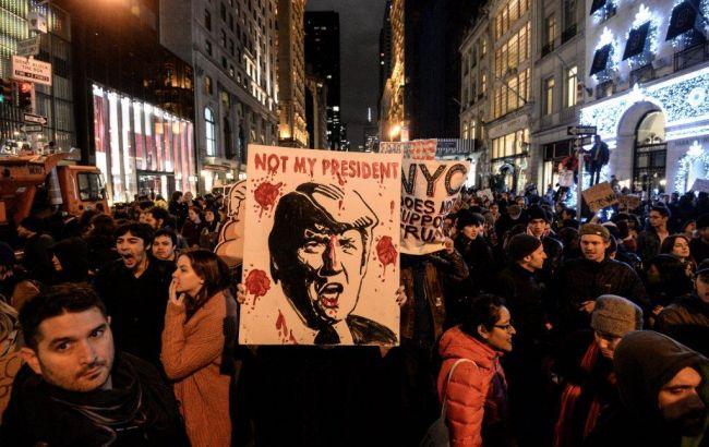 Фото: акция протеста в Нью-Йорке