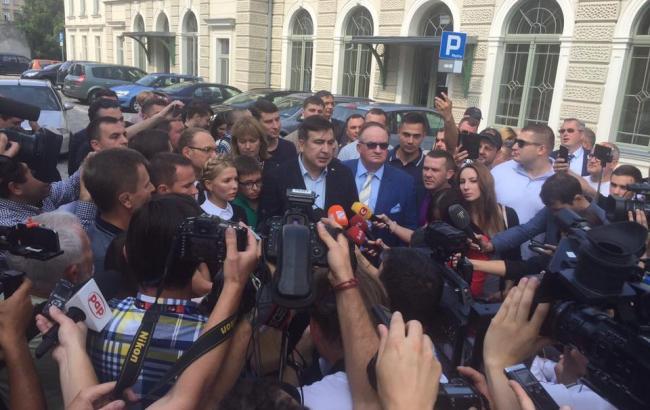 Фото: Михайло Саакашвілі в Польщі (Егор Фирсов facebook.com)