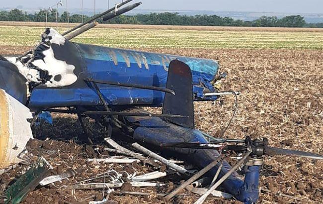 Крушение вертолета под Николаевом: появилось видео с места катастрофы