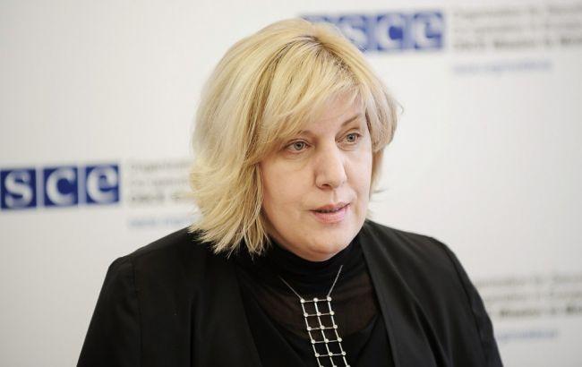 Фото: представитель ОБСЕ по вопросам свободы СМИ Дуня Миятович