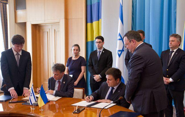 Фото: Климкин (Украина) и Белоцерковски (Израиль) подписали соглашение о трудоустройстве украинцев в Израиле
