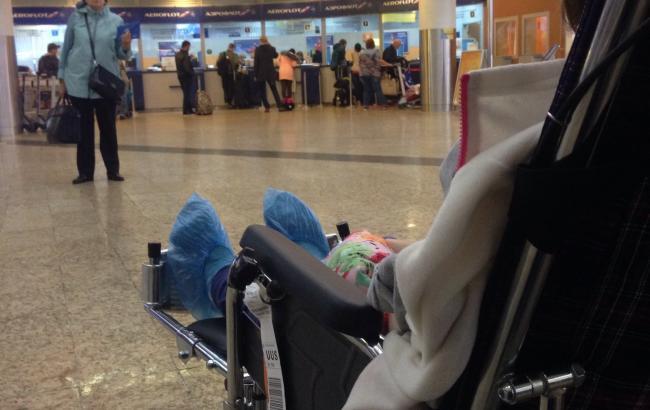 Фото: Ребенок в инвалидной коляске (facebook.com/m.labkovsky)