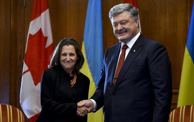Фото: Петр Порошенко и Христя Фриланд (пресс-служба АПУ)