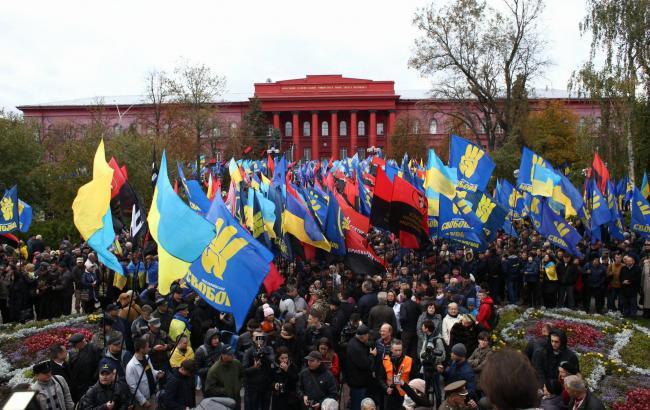 Марш Славы Героев: в Киеве состоялось масштабное шествие националистов (фоторепортаж)