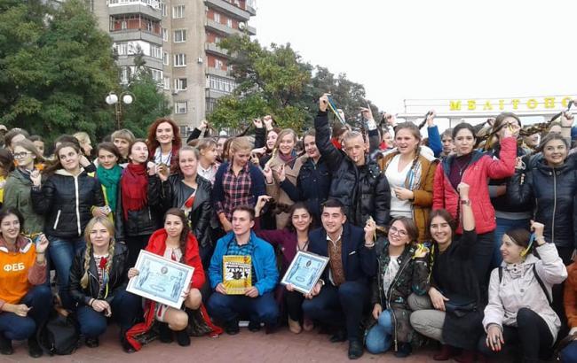 Фото: Студенти в Мелітополі (Лана Вєтрова/Facebook)
