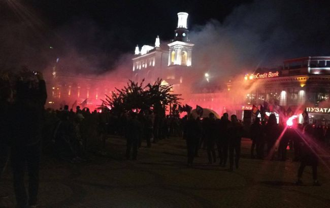 Марш правых сил мирно закончился на Контрактовой площади