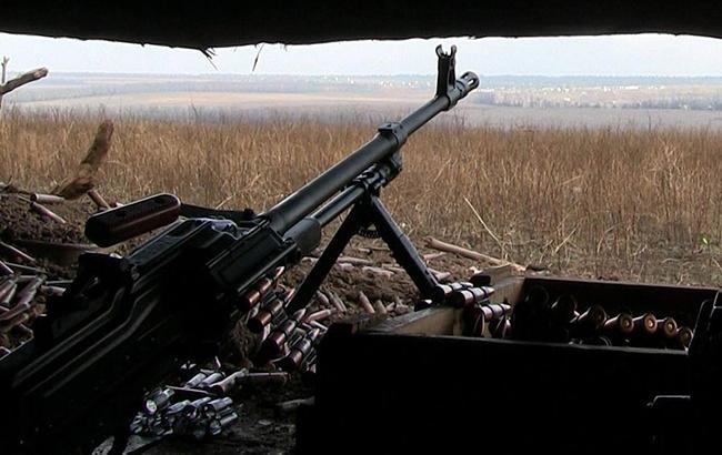 Фото: пулемет на передовой (facebook.com/ato.news)
